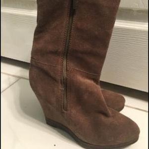 Michael Kors brown suede booties, size 6.5